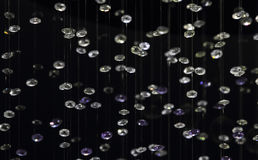 Crystal of contemporary chandelier Royalty Free Stock Image