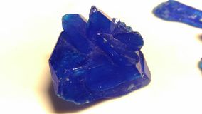 Crystal of copper sulphate. Stock Photo
