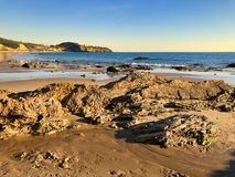 Crystal Cove Beach Newport Beach Californië royalty-vrije stock foto's