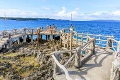 Crystal Cove is een klein eiland dat de hop van het toeristeneiland aantrekt royalty-vrije stock afbeeldingen