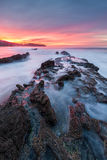 Crystal Cove Red Sunrise Stock Images