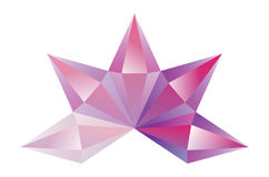 Crystal. S gradient light and dark pink Stock Images