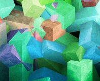 Crystal cubes Royalty Free Stock Image