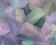 Crystal cubes Royalty Free Stock Photos