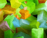 Crystal cubes Royalty Free Stock Images