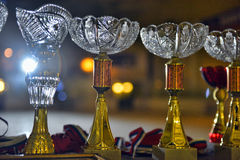 Crystal Cups Immagine Stock Libera da Diritti