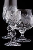 Crystal cut glass Royalty Free Stock Images