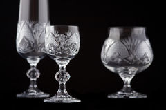 Crystal cut glass Stock Image