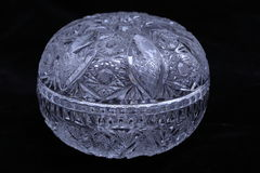 Crystal cut glass bowl Royalty Free Stock Photography