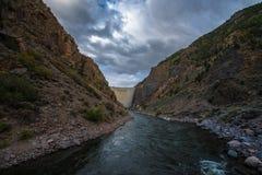 Crystal Dam Gunnison River Colorado Fotografía de archivo