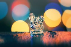 Crystal decorative mouse stock photography