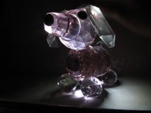 Crystal doggy. A long exposure shot of a puppy made of crystal Stock Image