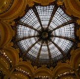 Crystal Dome. Of modernist style in the Lafayette department store of Paris royalty free stock photography
