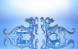 Crystal dragon isolated on white background Royalty Free Stock Photography