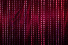 Crystal drapery with red fabric Stock Photos