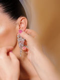 Crystal Earring Royalty Free Stock Images