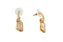 Crystal earrings Stock Photo