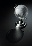 Crystal earth ball Stock Photography