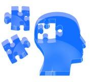 crystal effektpussel för hjärna Arkivfoto