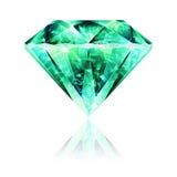 Crystal Emerald Gemstone verde intenso Fotografie Stock Libere da Diritti