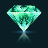 Crystal Emerald Gemstone verde intenso Fotografia Stock