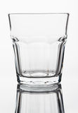 Crystal empty whiskey glass Stock Photo