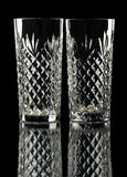 crystal exponeringsglas isolerade två Fotografering för Bildbyråer
