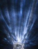 Crystal exponeringsglas med refraktioner arkivbild