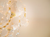 Crystal exponeringsglas som blänker ljuskronan Royaltyfria Foton