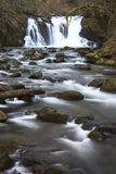 Crystal Falls. Is one of the waterfalls in McDowell Creek County Park near Lebanon and Sweet Home, Oregon Stock Photos