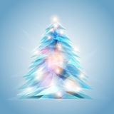 Crystal feel christmas tree Royalty Free Stock Photography