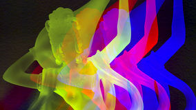 Crystal female buddha statue. Rendered in psychedelic colors Royalty Free Stock Photo