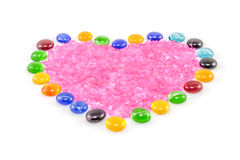 Crystal filled heart Royalty Free Stock Images