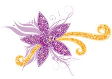 Crystal flower ornament Stock Photo