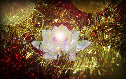 Crystal flower. A shiny crystal christmas decoration Stock Image
