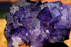 crystal fluorspar Arkivbilder