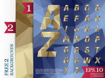 Crystal font polygonal abstract geometric backgrounds full Color. Eps. 10 stock illustration