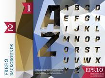 Crystal font polygonal abstract geometric backgrounds full Color. Eps.10 stock illustration
