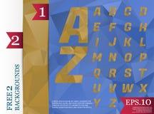 Crystal Font polygonal alphabet Background geometric pattern of. Triangles.eps.10 Stock Photo