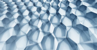 Crystal Formation. Blue Crystal Patterns in Grid Formation Stock Images