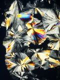 Crystal Formations. Prismatic formations made from crystallized lemon acid in polarized light royalty free stock photos