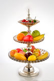 Crystal fruit dish Stock Photo