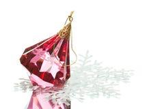 crystal garneringexponeringsglas för jul royaltyfri fotografi