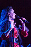 Crystal Gayle. LINCOLN, CA - February 22: Crystal Gayle performs  at Thunder Valley Casino Resort in Lincoln, California on February 22, 2013 Royalty Free Stock Photo