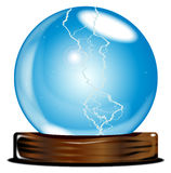 Crystal Gazing. A crystal ball over over a white background Stock Photos