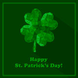 Crystal gem jewelry Four-leaf lucky clover. Royalty Free Stock Image