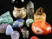 Crystal Gems Collection royalty free stock photos