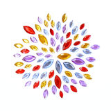 Crystal Gems flower pattern Stock Photos