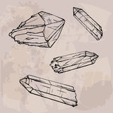 Crystal gems sketch illustration Stock Photography