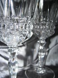 Crystal Glass 3. Close up of two crystal glasses Royalty Free Stock Photography